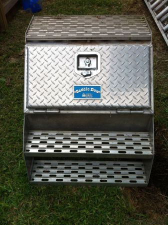 Merritt Diamond Plate Saddle Box - $350 (SE)