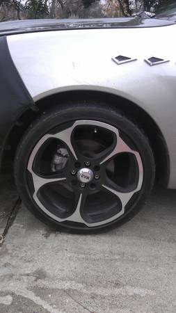 selling 17 4 lug universal rims with tires - $500 (san antonio)