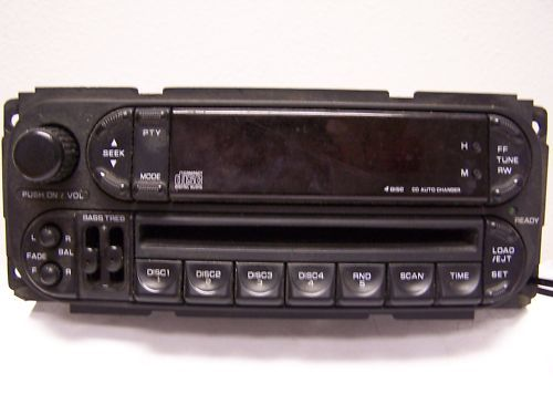 ( DODGE RADIO ) ( CD PLAYER ) ( Aux )FACTORY STOCK OEM - $55 (FITS DODGE,JEEP,CHRYSLER ( SEE ADD ))