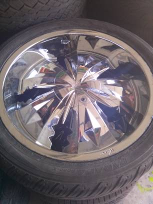 20 inch veloche jagged 930 rims and tires 5 lug universal - $550 (1604 culebra)