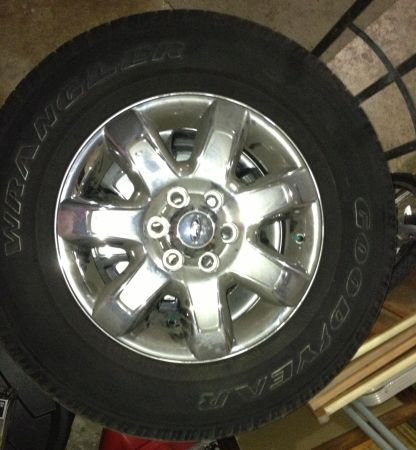 Ford f150 4 tires rims - $1100 (San Antonio)