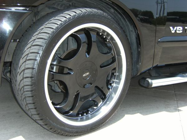 24 black rims for nissan titan or armada - $850 (central )