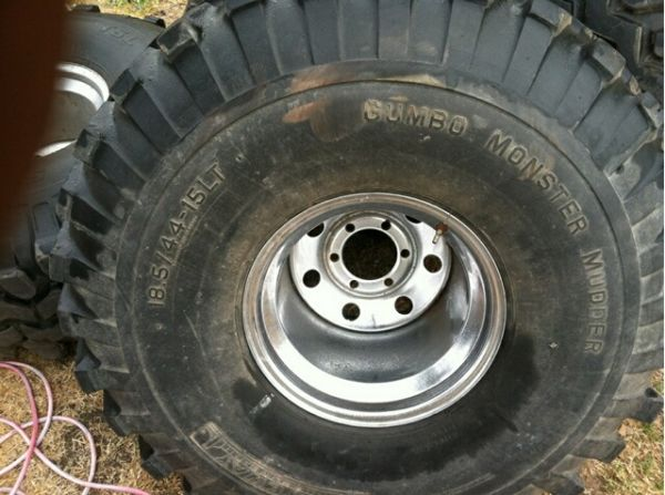 44 inch Mud tires Gateway Gumbo Monster Mudders - $1300 (karnes city)