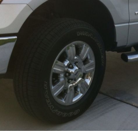 Stock 2011 Ford F150 chrome wheels with Goodyear tires EXCELLENT CONDITION (New Braunfels)