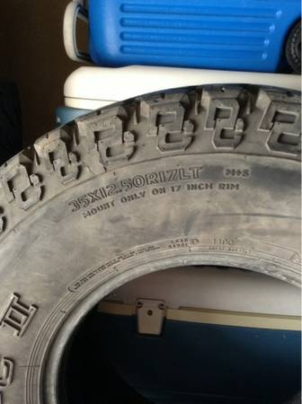 35 x 12.50 R 17 Tires - $90 (Alamo Ranch)