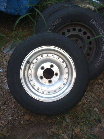 CENTER LINES,RALLYS, ALUMINUM MAGS, 9 SETS OF 5 LUG CHEVY RIMS (SOUTH SAN ANTONIO)