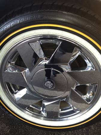 cadillac rims with new vogue tires - $1900 (austin)