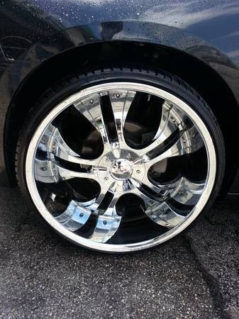 24in rims and tires 5 lug universal - $1000 (ss)