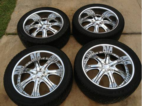 22 inch rims and tires 6 lug - $750 (1604 culebra)