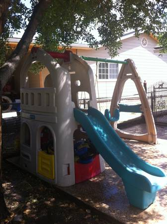 Step 2 Naturally Playful Playhouse Climber and Swing Set - $270 (LACKLAND)