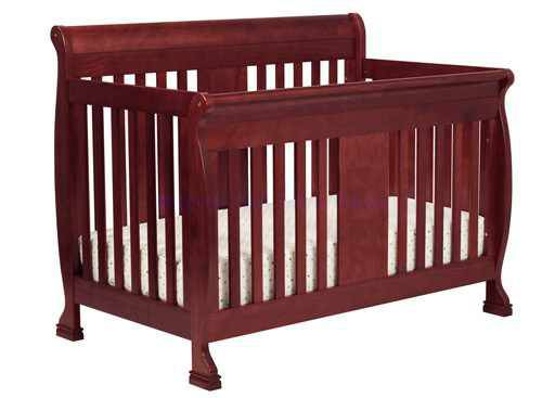 dark cherry wood crib - $50 (NE)