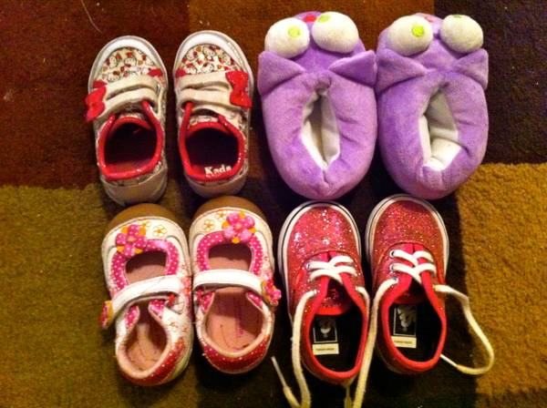 Baby Girl Shoes (VANS, KEDS, etc) - $30 (six flags)