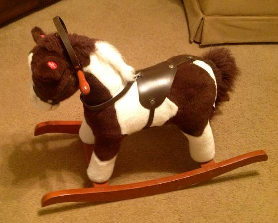 Chrisha Playful Plush Rocking Horse - $20 (Cibolo)