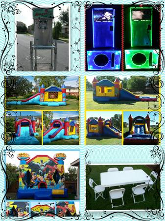 karaoke machine moonwalks water slides combo (san antonio)
