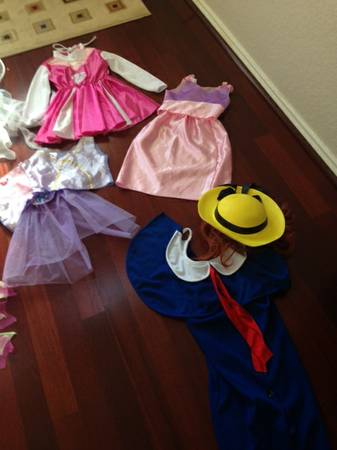 Misc Halloween costumes, princess, fairy, fireman, madeline - $5 (Helotes)