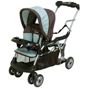 BABY TREND Sit N Stand LX DOUBLE STROLLER - $100 (Stone Oak)