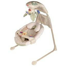 Natures Touch Baby Papasan Cradle Swing Fisher Price - $30 (San Antonio )