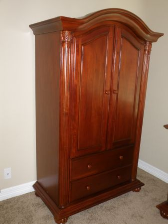 Baby Cache Lifetime Crib and Armoire - $500 (1604 Kyle Seale)