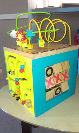 Awesome wooden activity cube by Battat - $27 (ne san antonio)