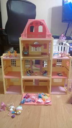 toys doll house barbie polly pocket books stuffed animals nerf - $5 (san antonio)