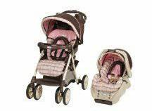 Graco Alano Pink and Brown Plaid Carseat and Stroller Combo