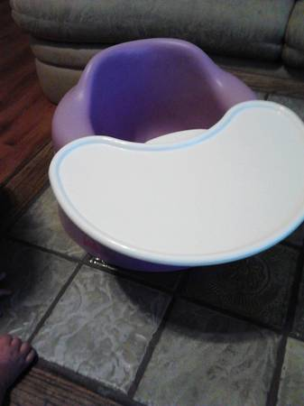 purple bumbo w tray - $12 (1604rolling oaks 35 topperwein)