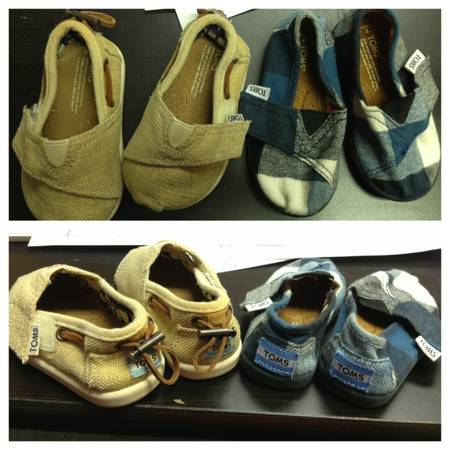 Toms Tiny Toddler Shoes T4 - $20 (North Central)