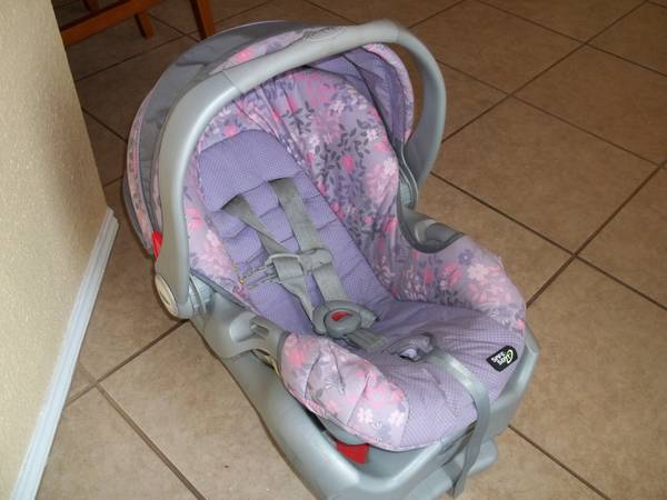 Graco Brown And Pink Car Seat