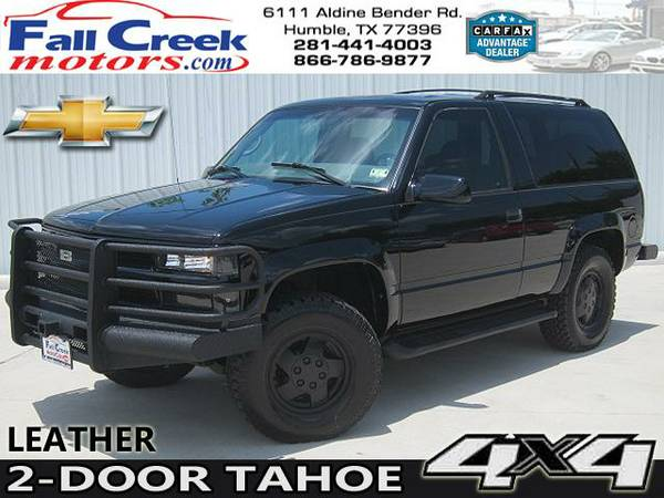 1999 CHEVROLET TAHOE 2 DOOR 4X4 HEAVY DUTY BUMPERS BLACK CLEAN 4WD - $9980 (Texas 866-786-9877)