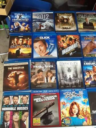 Blu ray movies lot of 33 total (GrissomTezel)
