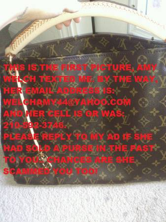LOUIS VUITTON SCAM ALERT BE AWARE OF THESE PERSONS (SAN ANTONIO, TX)