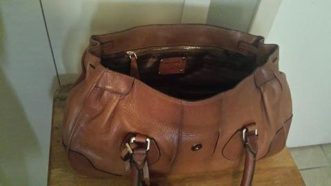 200  Authentic PRADA  Hand Stitched City Calf Leather Tote