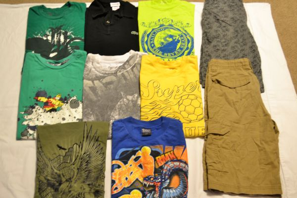 Boys clothes size Medium - 10 pieces - $5 (NW San Antonio - Sea World area)