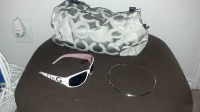 coach purse..dolce gabana sunglasses.. james avery necklace - $230 (downtown)