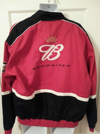 DALE EARNHARDT JR.BUDWEISER NASCAR WINNERS CIRCLE JACKET Sz L(Collect) (SA TX)