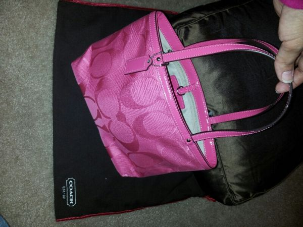 Coach Small Tote Pink Purse NWT - $75 (san antonio)