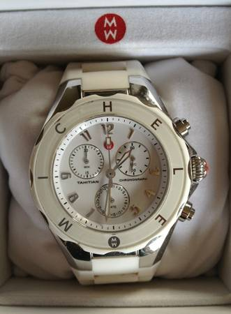 MICHELE - White Silver Tahitian Jelly Bean Watch - $130