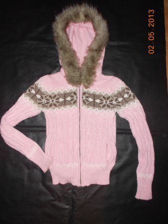ADORABLE PINK CABLE KNIT AEROPOSTALE SWEATER SZ.JRS SM OR KIDS1012 - $10 (MARBACH410)