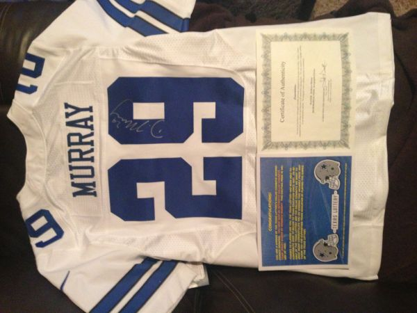 Signed authentic dallas cowboy jersey w certificate (Utsa)