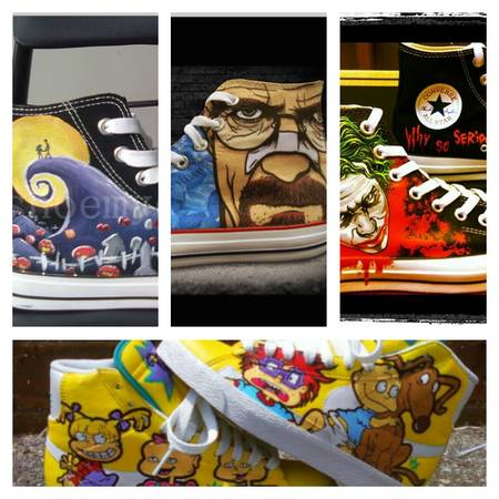 Customize your Shoes (Spurs, Iron-Man, Wolverine,etc.) (San Antonio)