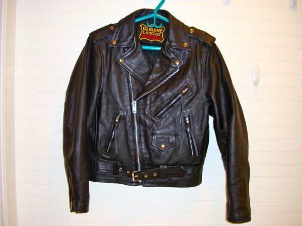 BIKER LEATHER JACKET and CHAPS - $75 (BLANCOBITTERS)