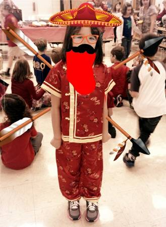 Too cute Chinese costume for little girl - $20 (alAmO HeiGhTs)