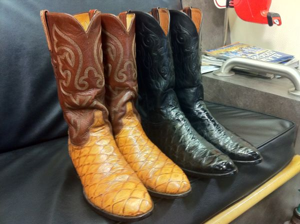 LUCCHESE ANTEATER BOOTS, 2 PAIRS - $950 (NORTHSIDE410)