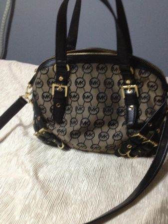 MICHAEL KORS MILO MONOGRAM LARGE SATCHEL - $200 (NORTH EAST)