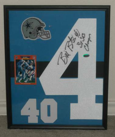 Framed Dallas Cowboys Signed Numbers with COAs - x002440 (san antonio)