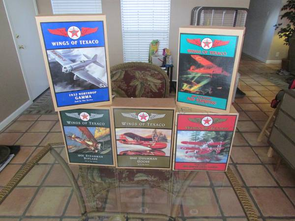 WINGS OF TEXACO PLANE COIN BANKS - $160 (NE SAN ANTONIO)