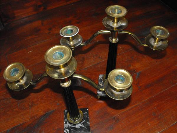 Brass Candel Holders -   x0024 20  Helotes