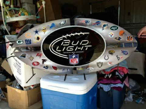 Bud Light NFL neon sign - $300 (Northeast)
