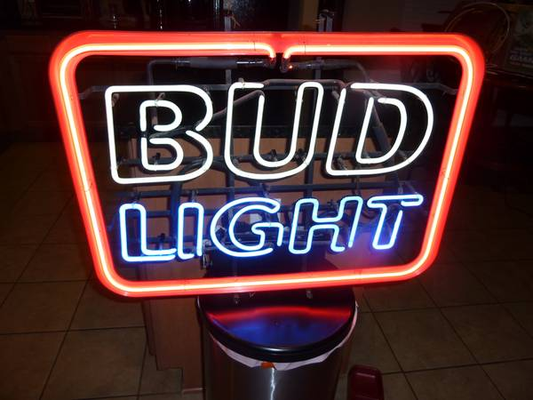 Bud Light Neon Sign - $175 (San Antonio, TX)