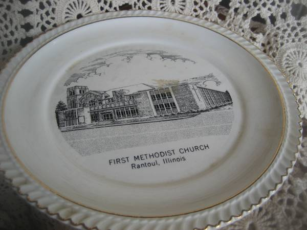 Collectable Plate  First Methodist Church  Rantoul  IL -   x0024 5  north central